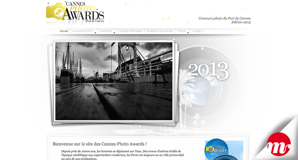 web design et charte graphique, Cannes Photo Awards, MephistoDesign