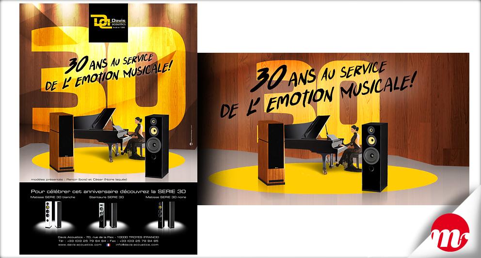 Branding et publicités pour Davis Acoustics