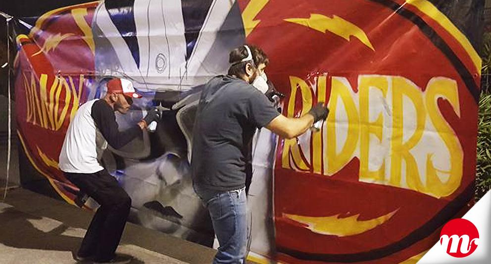 Dandy Riders Festival 2017, graffiti live