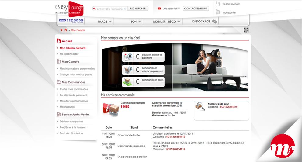 EasyLounge, direction artistique, web design, print, infographie