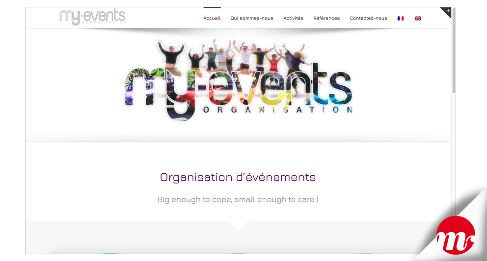 web design my events organisation