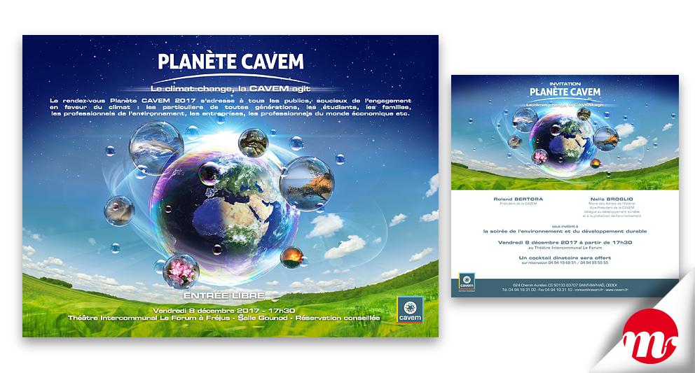 Création visuelle Planète CAVEM 2017