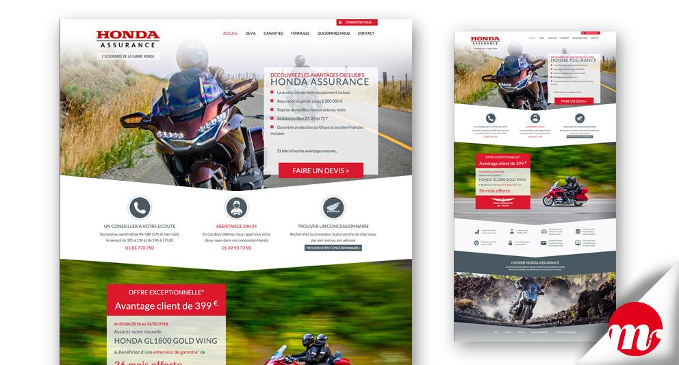 honda-assurances intégration Bootstrap homepage