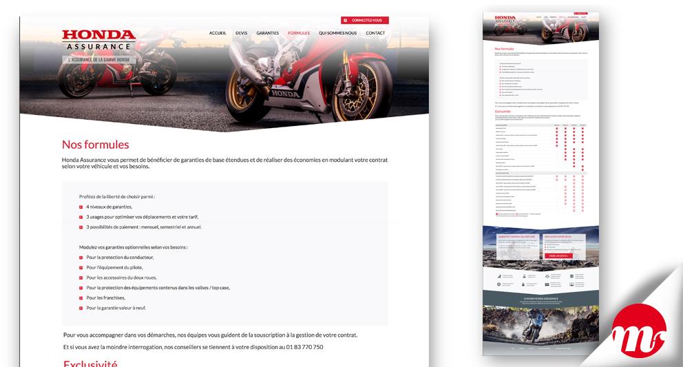 honda-assurances intégration Bootstrap-page-infos