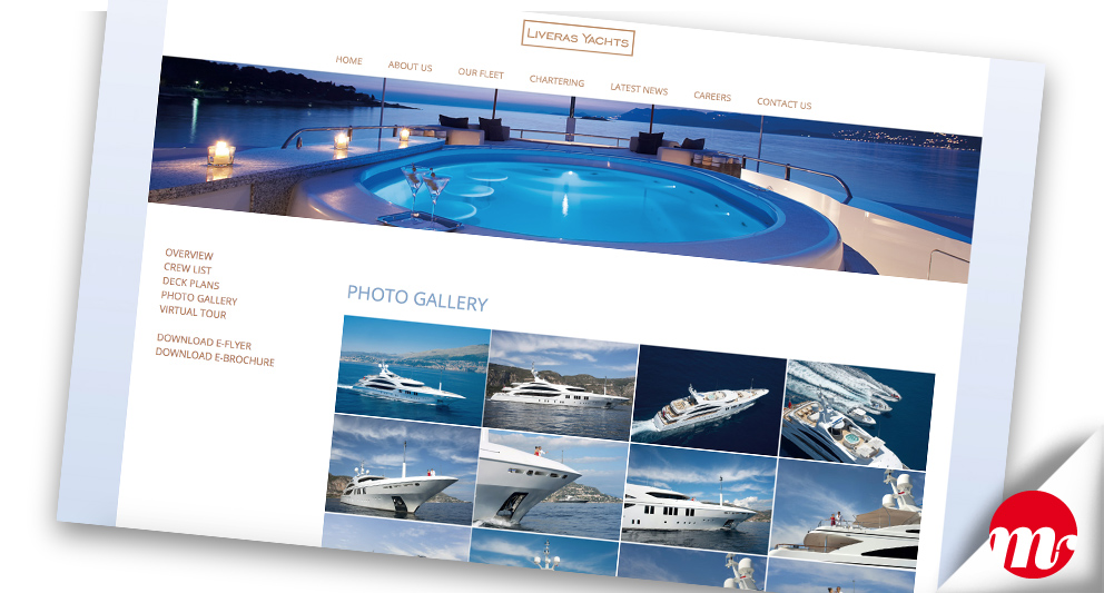 liveras yachts web design gallerie-images