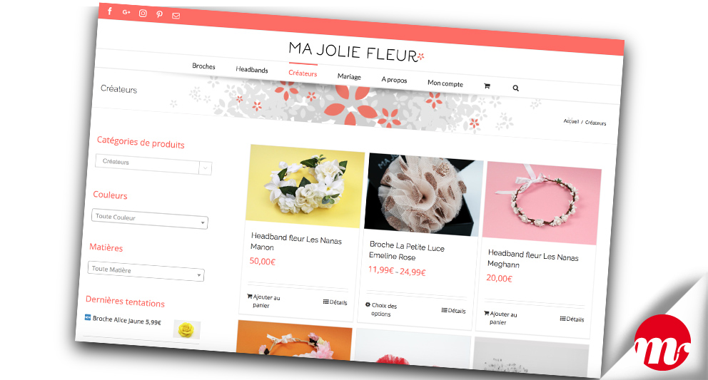 ma jolie fleur e-commerce-catalogue