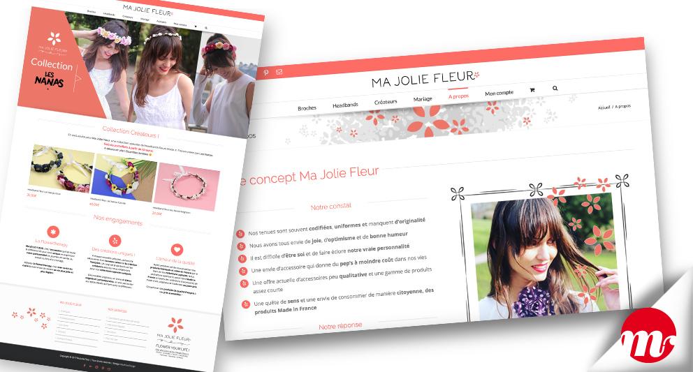 ma jolie fleur e-commerce-homepage